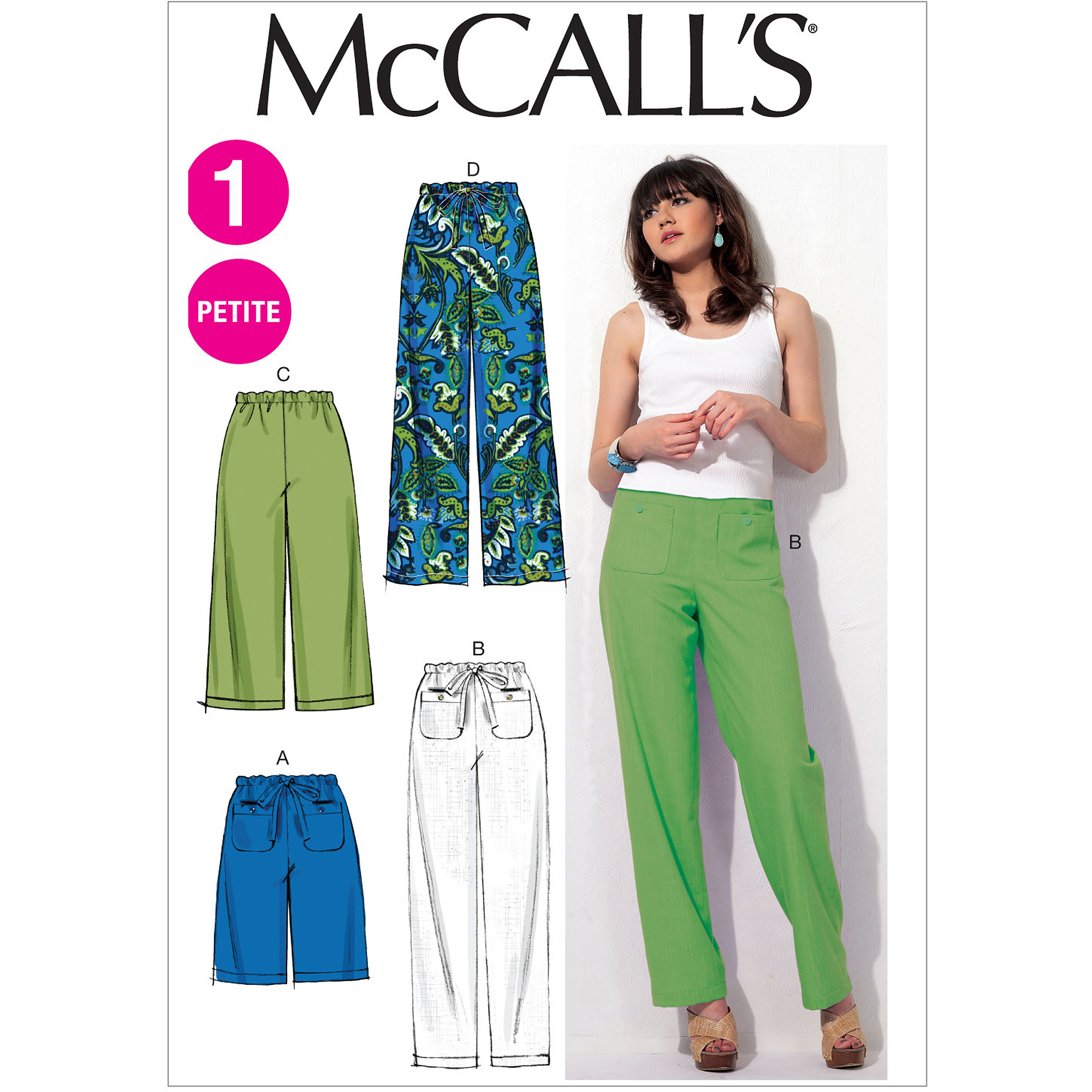 McCall's Pattern Misses' and Miss Petite Shorts and Pants, ZZ (L, XL, XXL)