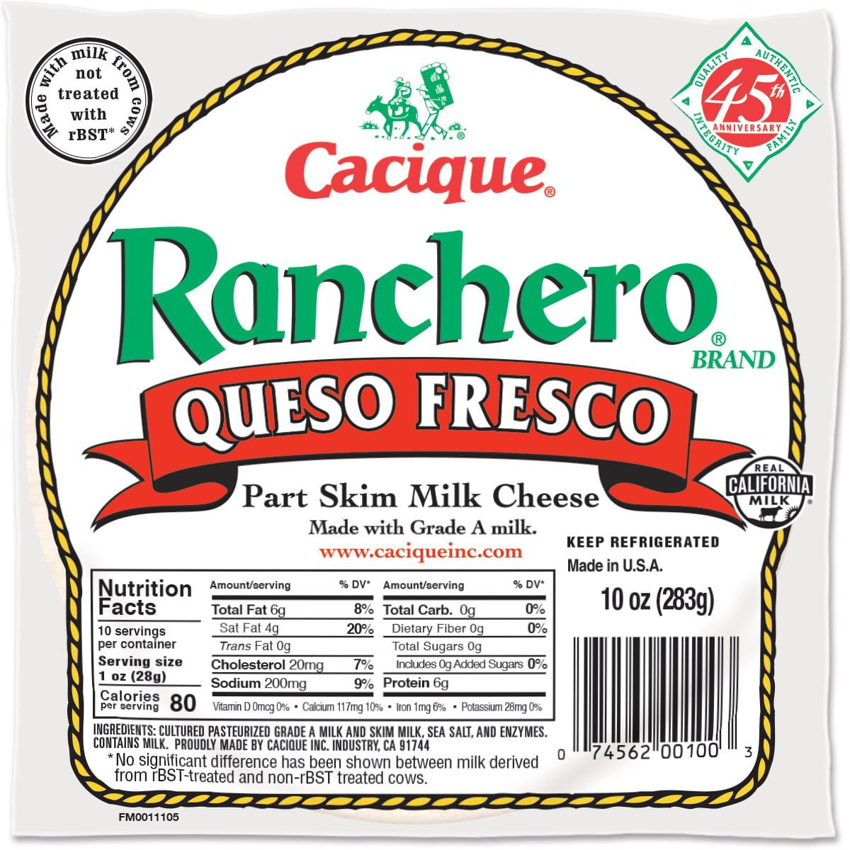 Cacique Ranchero Queso Fresco Cheese, 10 oz