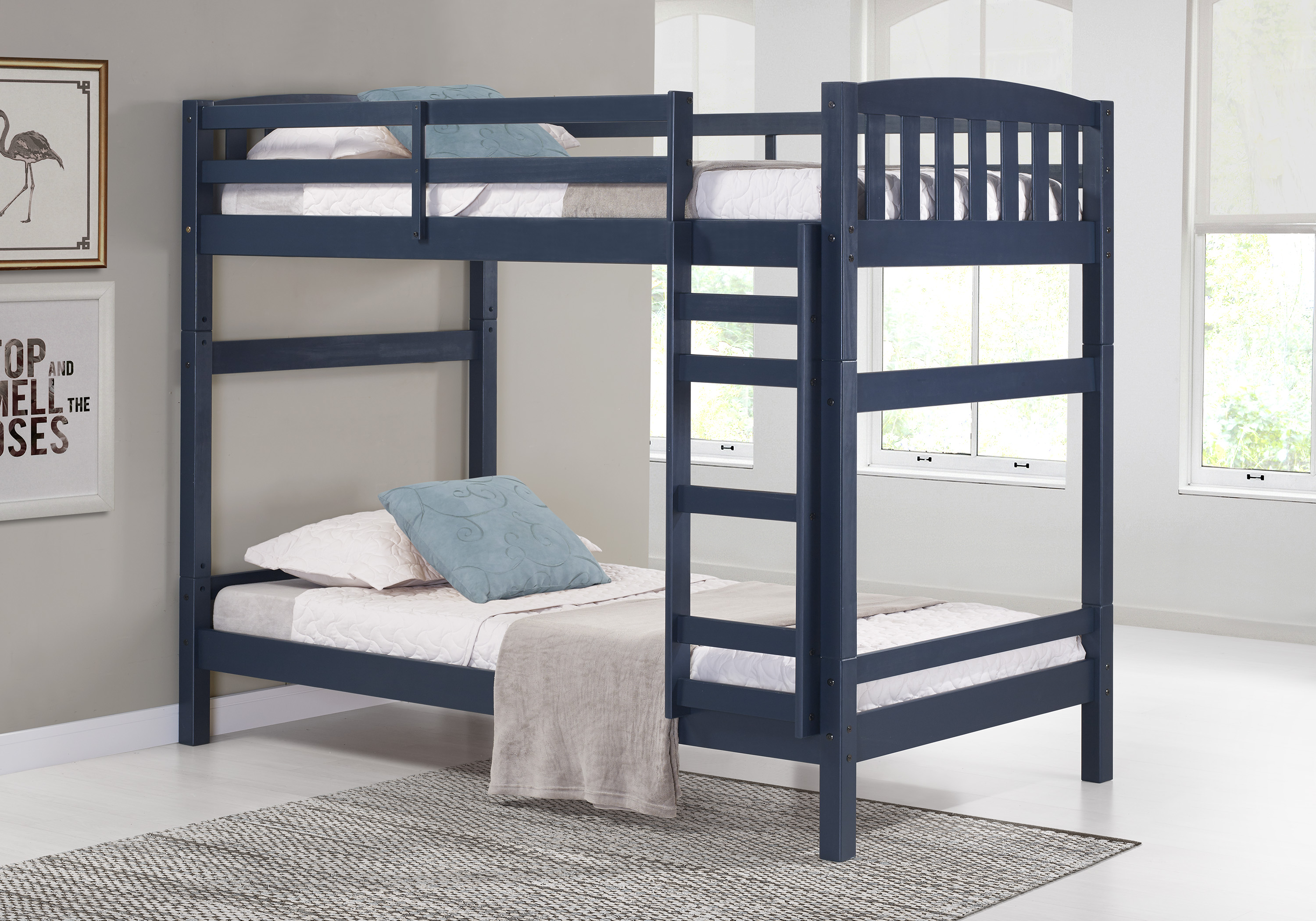 Simmons 5-in-1 Convertible Bunk Bed, Multiple Colors by United Furniture Industries