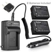 Kastar Battery (2-Pack) and Charger Kit for Panasonic DMW-BLC12, DMW-BLC12E, DMW-BLC12PP and DE-A79 Work with Panasonic Lumix DMC-FZ200, DMC-FZ1000, DMC-G5, DMC-G6, DMC-GH2 Cameras
