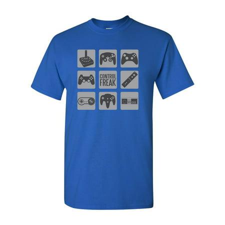 Control Freak Gamer Controller Adult DT T-Shirt Tee (Speed Freak Graphic)