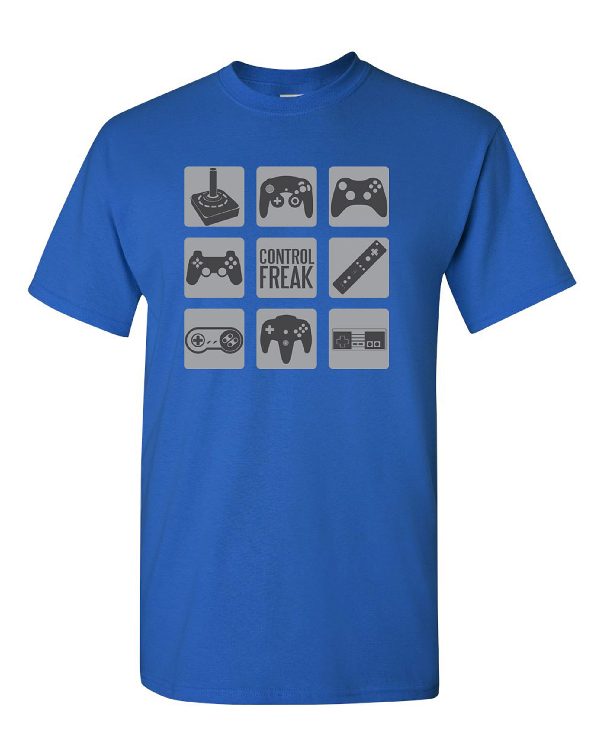 Control Freak Gamer Controller Adult DT T-Shirt Tee