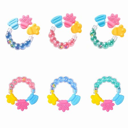 Teether Infant Toys - Baby Infant Teether Toy Soft Gumming Babies Cartoon Rattle Teether Toy ,Sensory Teether, Baby Teething Toy for Toddlers Infants Neborn Toys, Size A