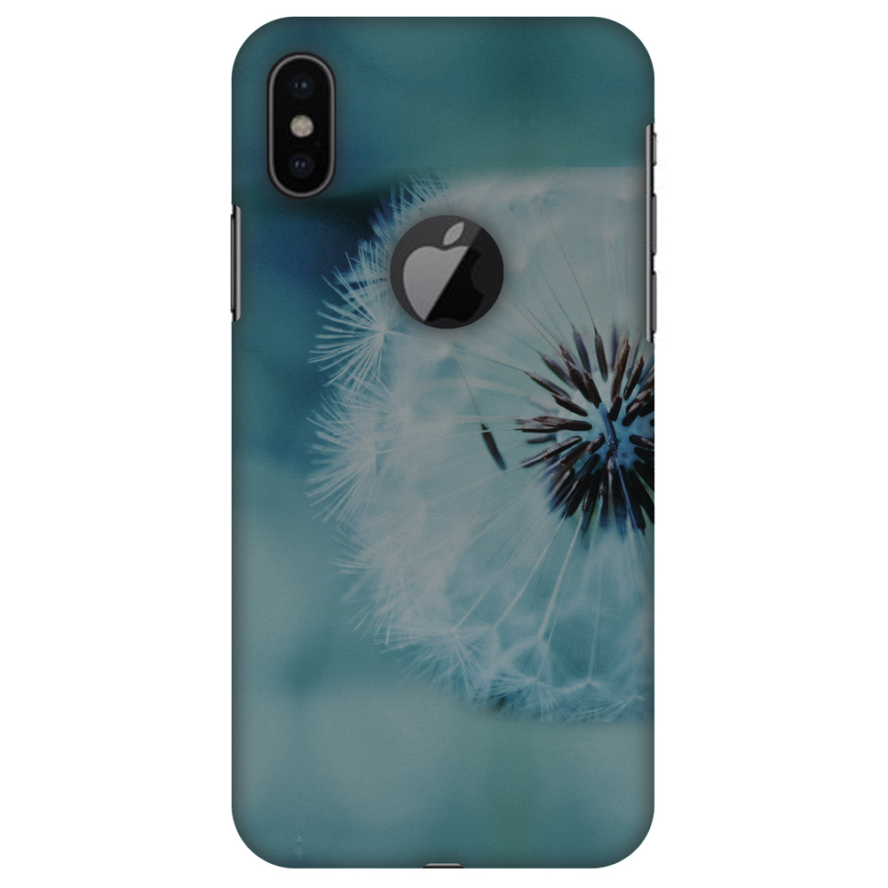 iPhone X Designer Case, Premium Handcrafted Printed Designer Hard ShockProof Case Back Cover for Apple iPhone X - Dandelion Close By, Thin, Light Weight, HD Colour, Apple Logo Cut