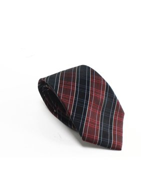 Men's Neck Tie One Plaid Print Skinny Not Applicable