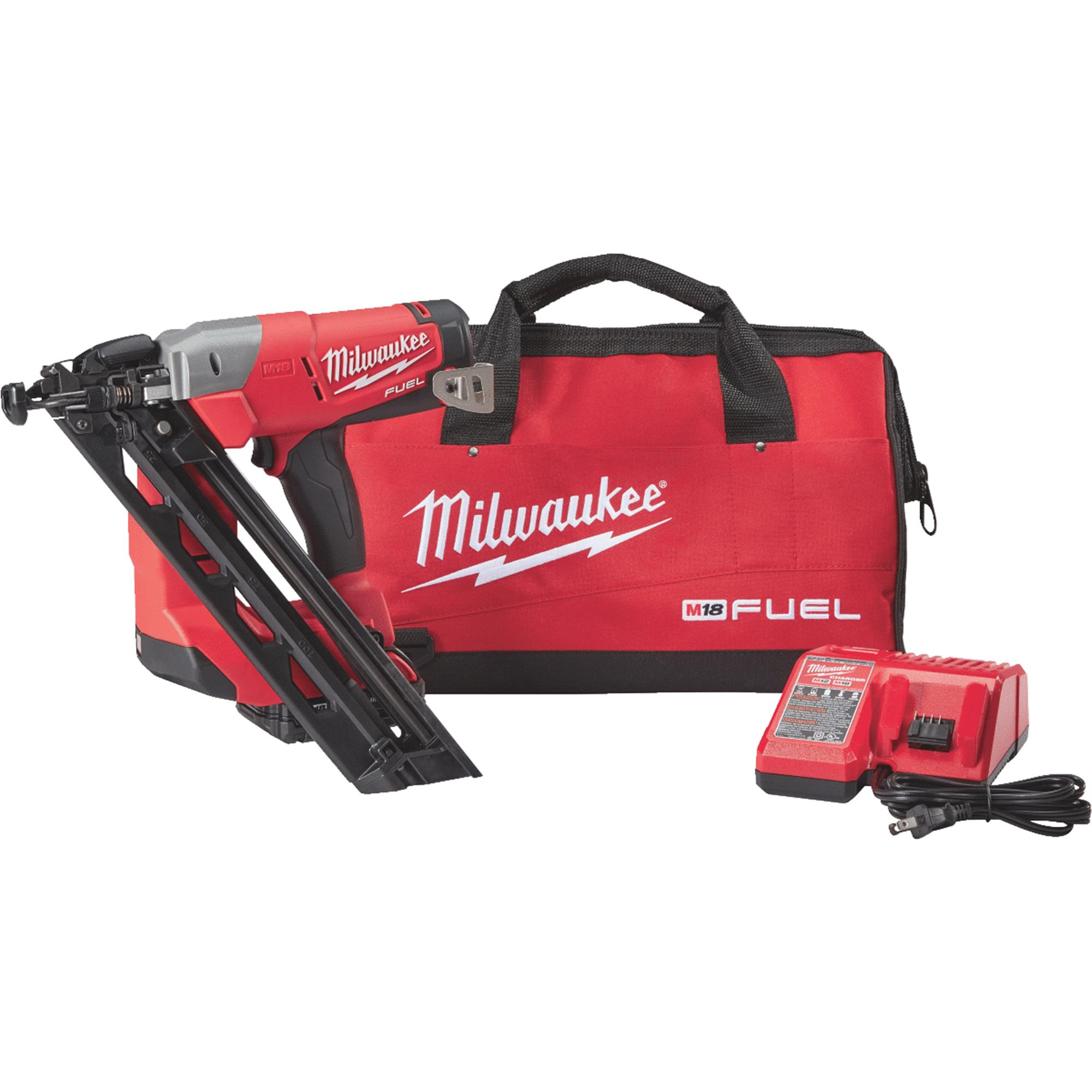Milwaukee M18 FUEL Brushless Cordless Finish Nailer Kit by Milwaukee Elec.Tool