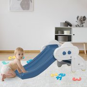 XGEEK Kids Toys Indoor Climber Slide for Toddler Blue Color Under 5 years