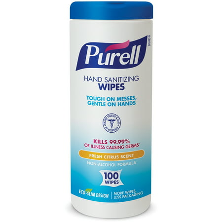Purell Hand Sanitizing Wipes, 100 Count, 4 Pack (Purell Sanitizing Wipes Moisturizer)