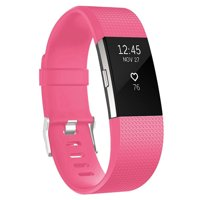 For Fitbit Charge 2 Bands Replacement Sport Strap Accessories with Fasteners and Metal Clasps for Fitbit Charge 2 Wristband Small,Fuchsia