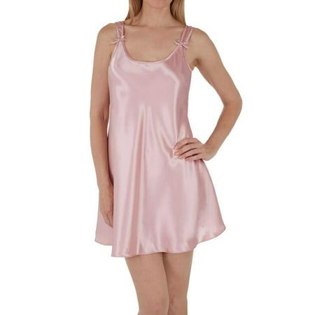 Women's Amanda Rich 561D-40 Satin Bias Cut Short Gown