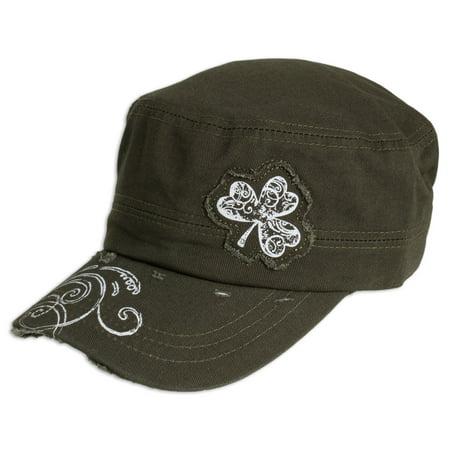 Shamrock Irish Military Cadet Cap, One Size St Patricks Day Hat, Olive Green](St Patricks Day Hats Cheap)