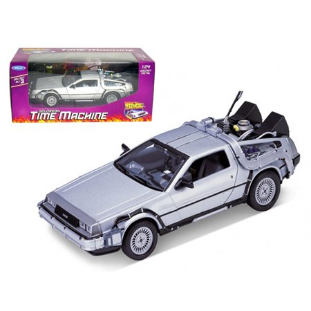 "DeLorean From Movie ""Back To The Future 1"" 1/24 Diecast Model Car by Welly"
