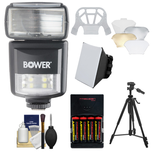 Bower SFD970 2-in-1 Power Zoom Flash & LED Video Light wi...