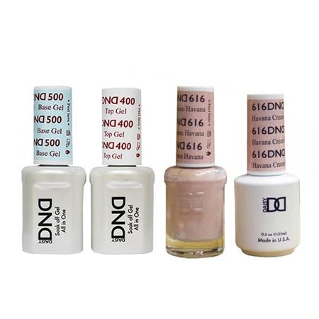 DND - Base, Top, Gel & Lacquer Combo - Havana Cream -
