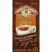 land o lakes cocoa classics hot cocoa mix chocolate supreme - (1 box/6 packs)