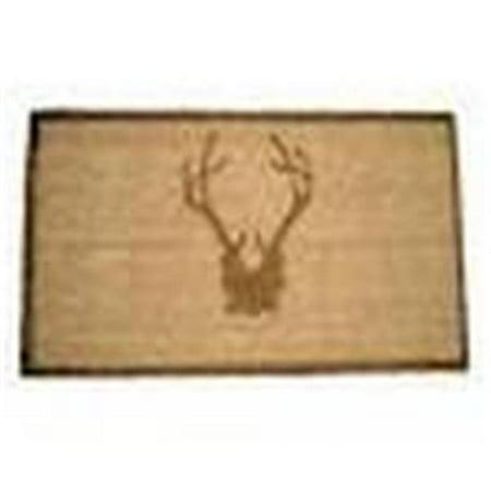 Geo Crafts G377 30 Antler Brz Sml 8 X 30 In  Sk Antler Creel Doormat  44  Bronze   Small