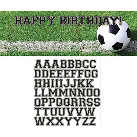 Soccer Party Decorations (297966 Sports Fanatic Soccer Giant Party Banner with Stickers, Multicolor, 20 x 60-Inches By Creative)