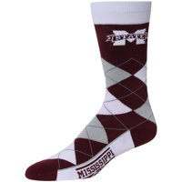 Mississippi State Bulldogs For Bare Feet Argyle Crew Socks