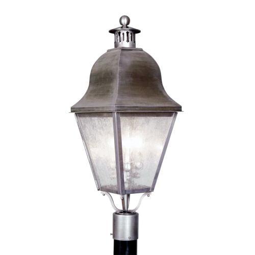 Livex Lighting Amwell 3 Light Outdoor Post Light