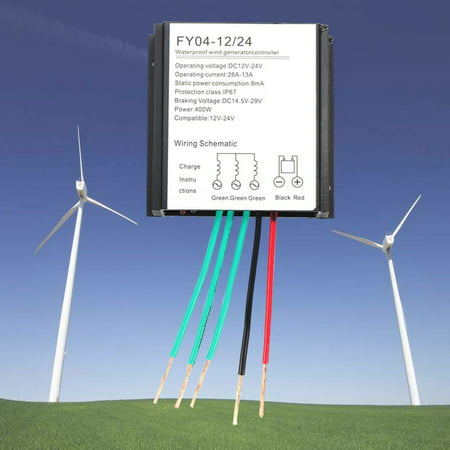 12V/24V 400W Wind Turbine Generator Controller Battery Charge Waterproof