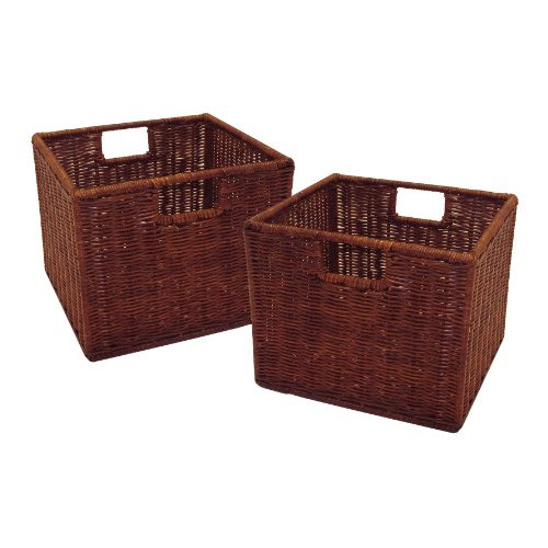 Luxury Home Leo Wired Basket (Set of 2)