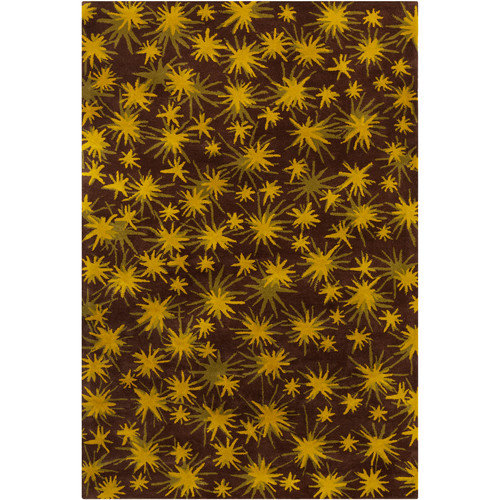 Filament  LLC Cinzia Brown / Yellow Sparkling Stars Area Rug