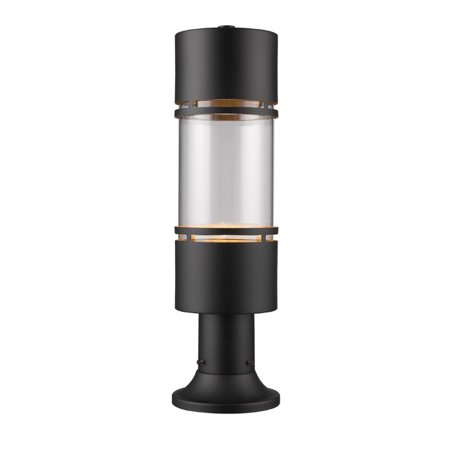 Z-Lite Luminata Outdoor LED Post Mount Light in Clear and Black - image 1 of 1