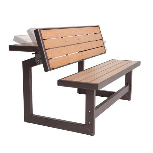 Lifetime Products Wood Grain Convertible Bench