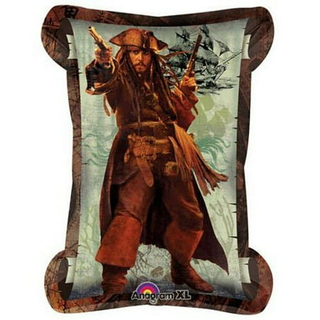 Pirates of the Caribbean Jack Sparrow Supershape Foil Mylar Balloon (1ct)* - Jack And The Neverland Pirates Party Supplies
