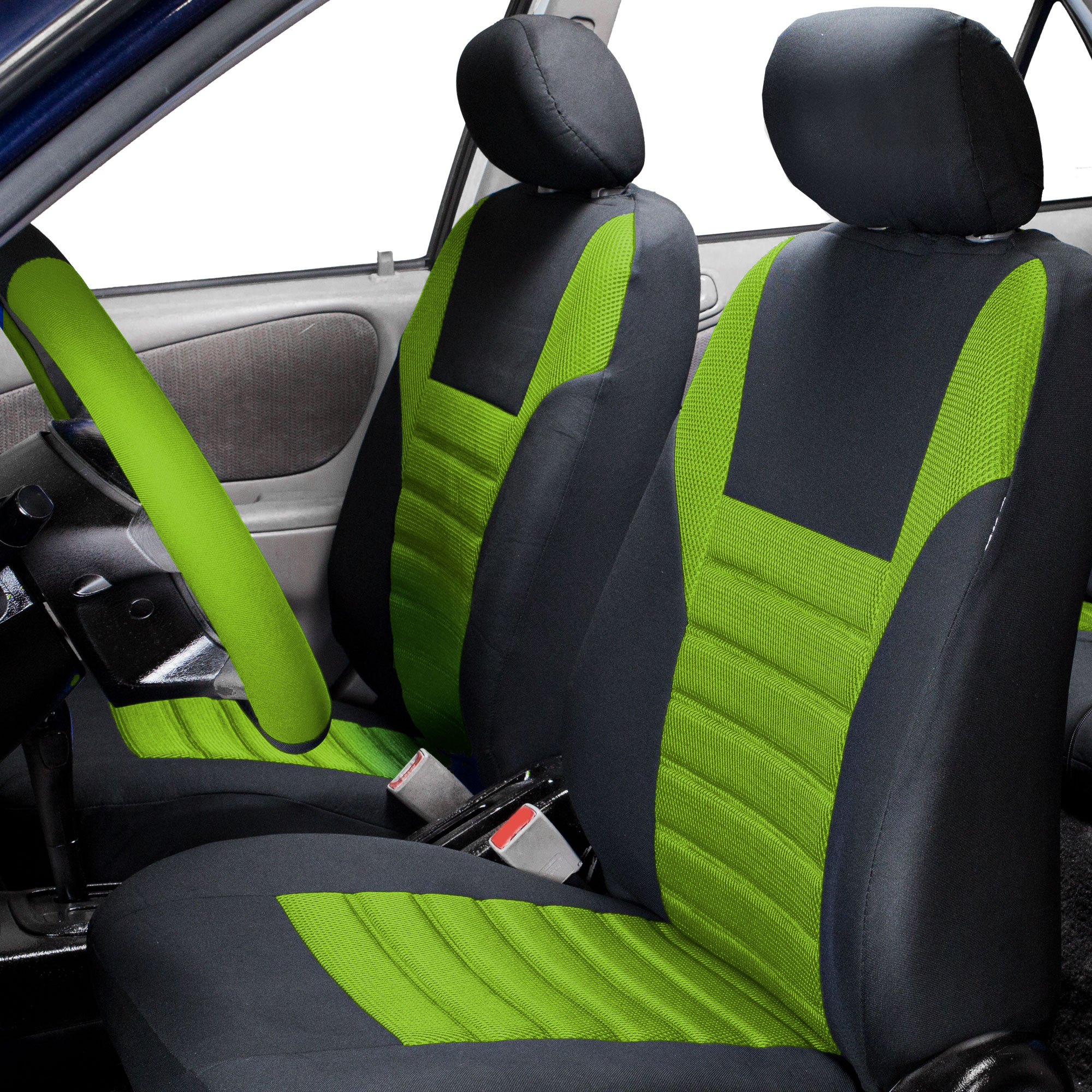 FH Group, Air Mesh Auto Car Seat Covers for Sedan SUV Van Front Buckets, 2 Front Bucket Covers, 11 Colors