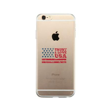 Trust   Love Usa Clear Phone Case