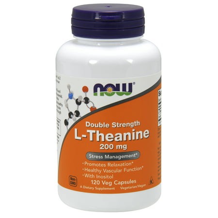 NOW Supplements, L-Theanine 200 mg, 120 Veg Capsules