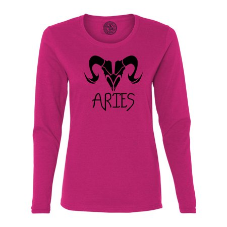 Aries Zodiac Signs Birthday Womens  Long Sleeve