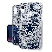 Dallas Cowboys iPhone Clear Paisley Design Case