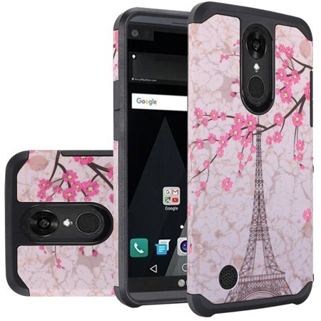 LG Aristo Case, LG Fortune Case, LG Phoenix 3 Case, LG Risio 2 Case, LG K4  Case, LG Rebel 2 LTE Case, TJS Design Dual Layer Hybrid Shockproof White