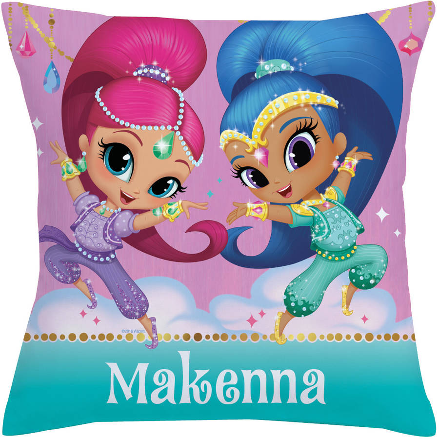 Personalized Shimmer and Shine Make it Sparkle Throw Pillow, Pink