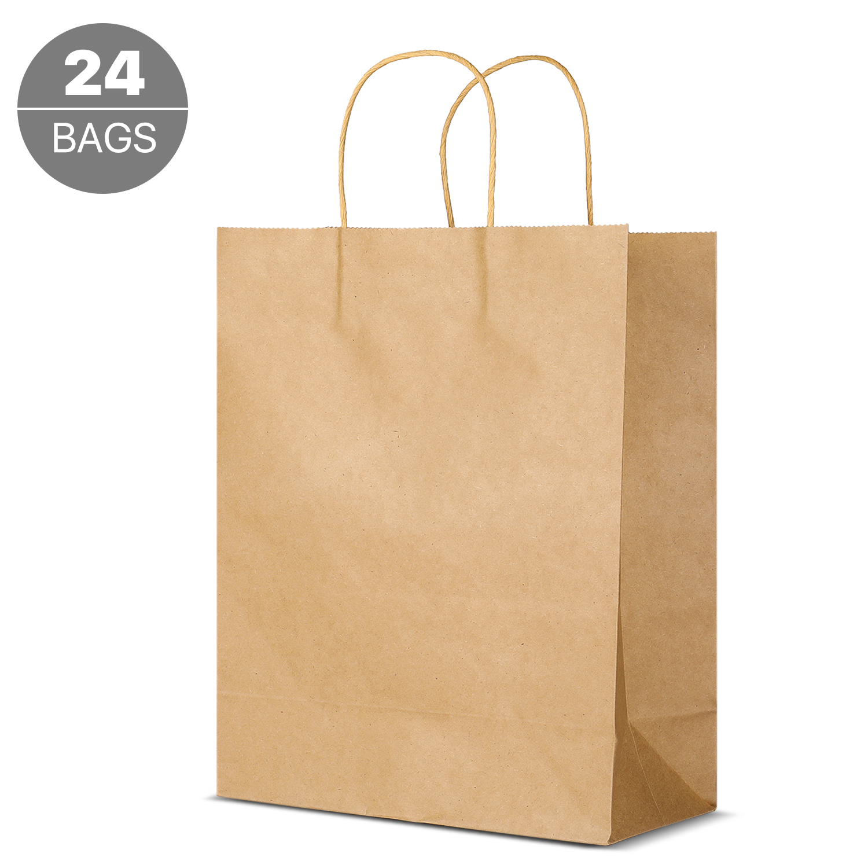 Kraft Paper Gift Bags Bulk With Handles Shopping Bag
