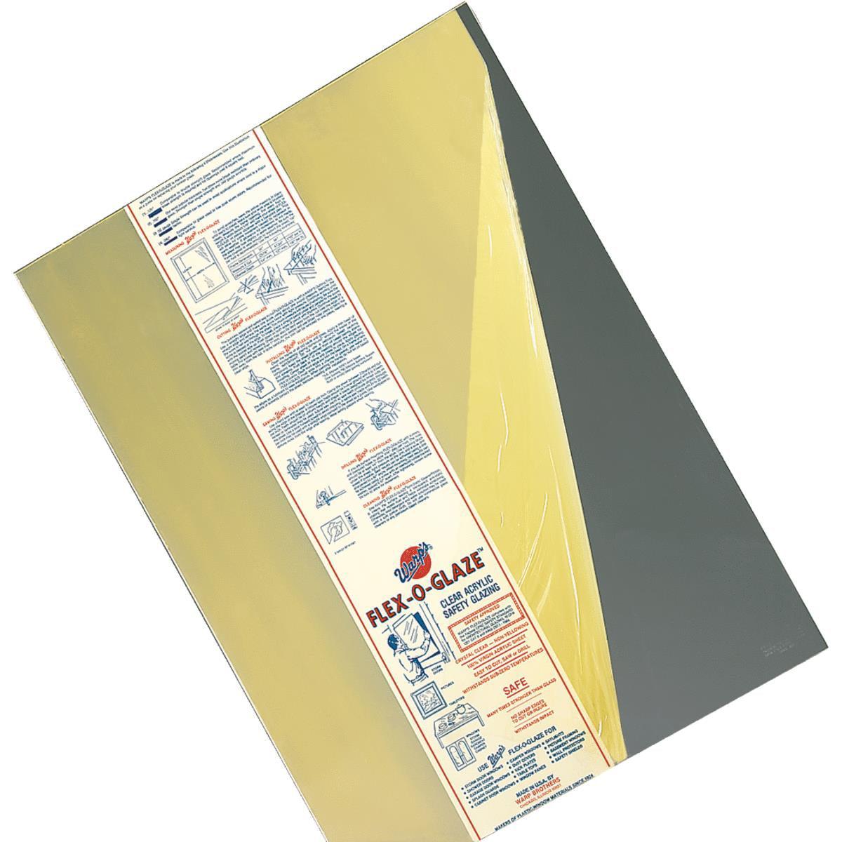 Warp Brothers Flex-O-Glaze Plexiglass Safety Glazing Acry...