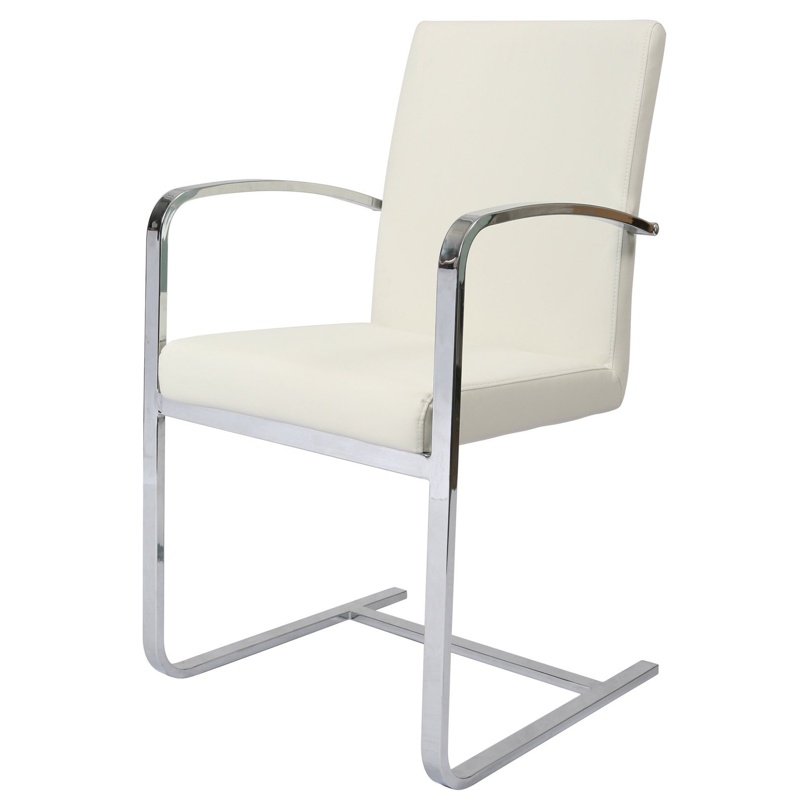 Impacterra Monaco Dining Armchair Ivory   Chrome by Pastel Furniture