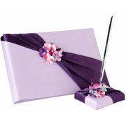 Lillian Rose Radiant Flower Guest Book and Pen Set