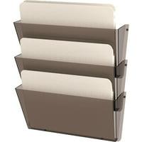 deflecto Unbreakable Wall File Set, Letter, Three Pocket, Smoke