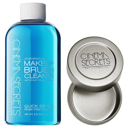 Cinema Secrets Makeup Brush Cleaner Pro Starter Kit, 8 Fl Oz (with tin) ()