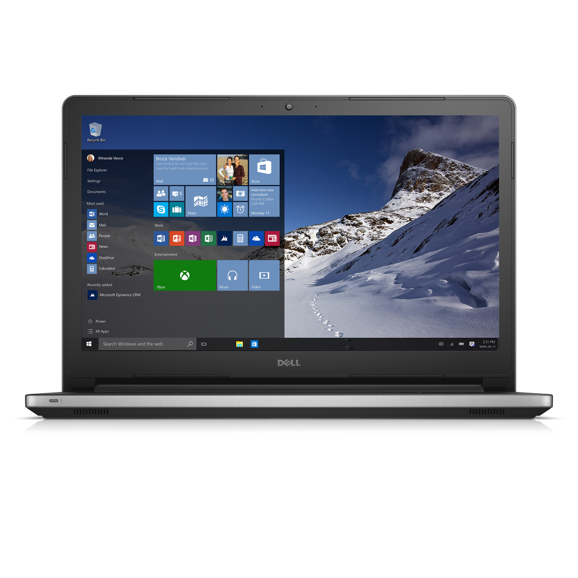 """Dell Inspiron 15"""" Laptop AMD A10 12GB Memory 1TB HD Grey Walmart"""