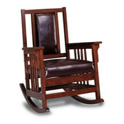 A Line Furniture Kapelner Luxury Mission Style Rocking Chair