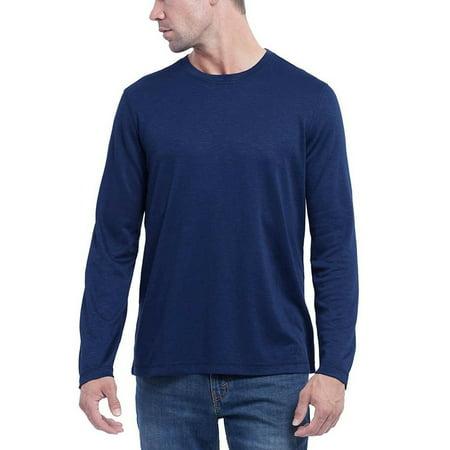 Orvis Men's Long Sleeve Slub Tee Indigo Solid 2XL - NEW