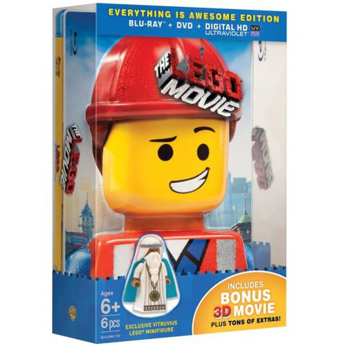 The Lego Movie (Everything Is Awesome Edition) (3D Blu-ray + Blu-ray + DVD + Digital HD + LEGO Figurine) (With INSTAWATCH) (With INSTAWATCH) (Widescreen)