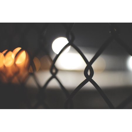 Framed Art for Your Wall Chainlink Wire Fence Metal Security Chain 10x13 Frame](Halloween Cemetery Fence For Sale)