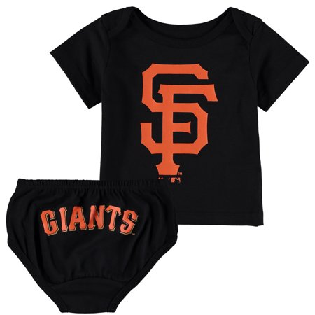 - San Francisco Giants Majestic Newborn & Infant Mini Uniform Set - Black