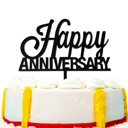 JennyGems Happy Wedding Anniversary Cake Topper