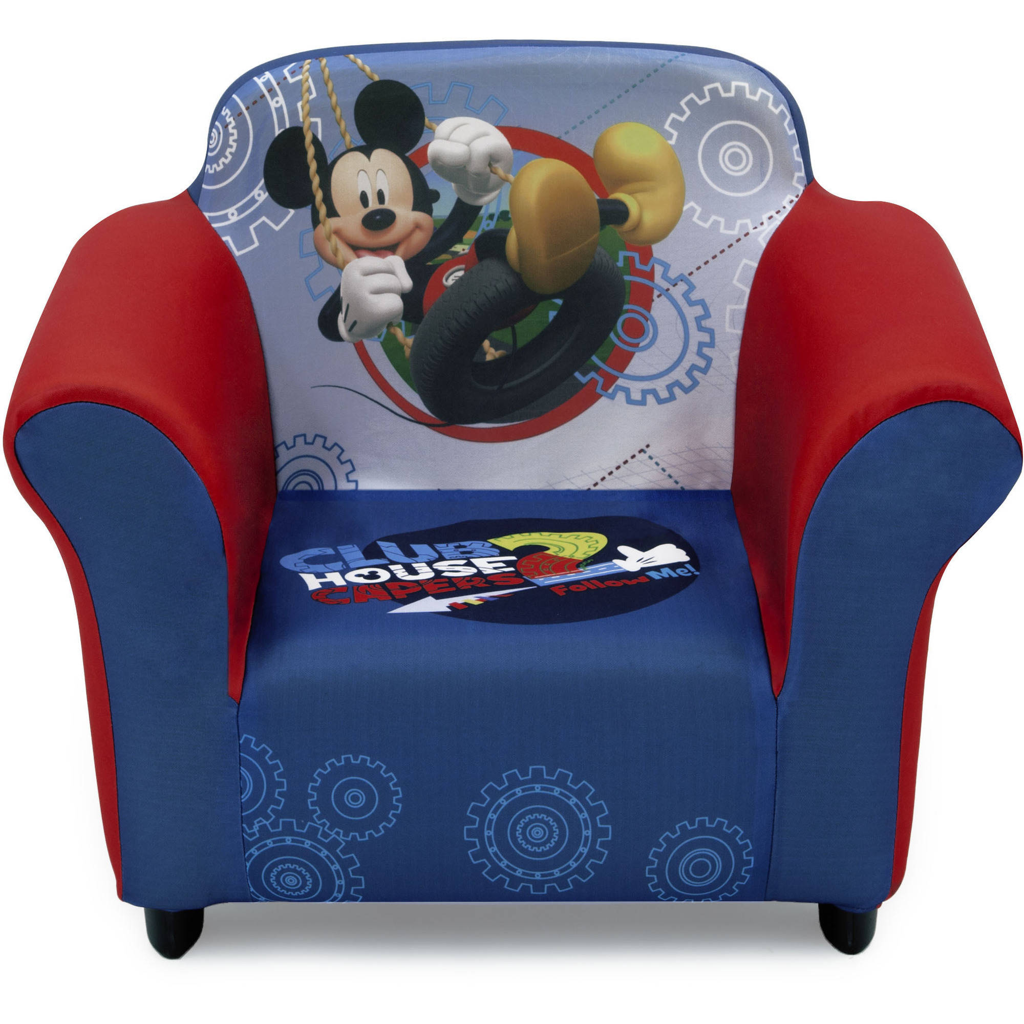 Disney Mickey Mouse Plastic Frame Upholstered Chair
